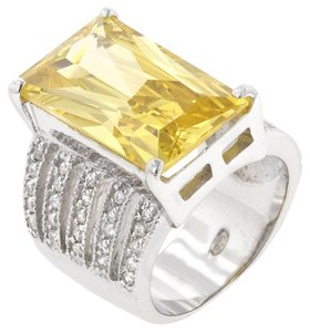 Other Yellow Cubic Zirconia Oversized Cocktail Ring [SHIPS NEXT DAY]