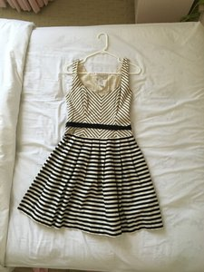 Corey Lynn Calter Striped Lace Up Dress
