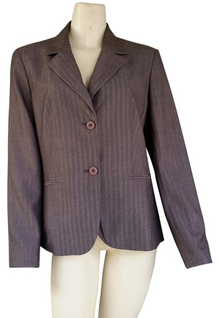Preload https://item5.tradesy.com/images/ann-taylor-brown-factory-store-herringbone-blazer-size-12-l-1807264-0-0.jpg?width=400&height=650
