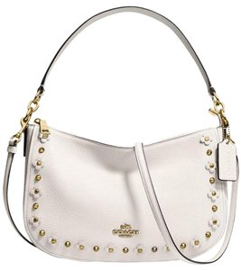 Coach Leather Ivory Chelsea Cross Body Bag