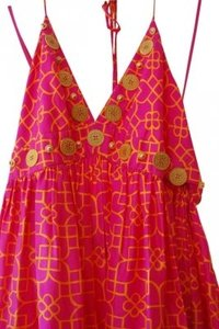 Preload https://item4.tradesy.com/images/milly-pink-and-orange-long-casual-maxi-dress-size-10-m-180733-0-0.jpg?width=400&height=650