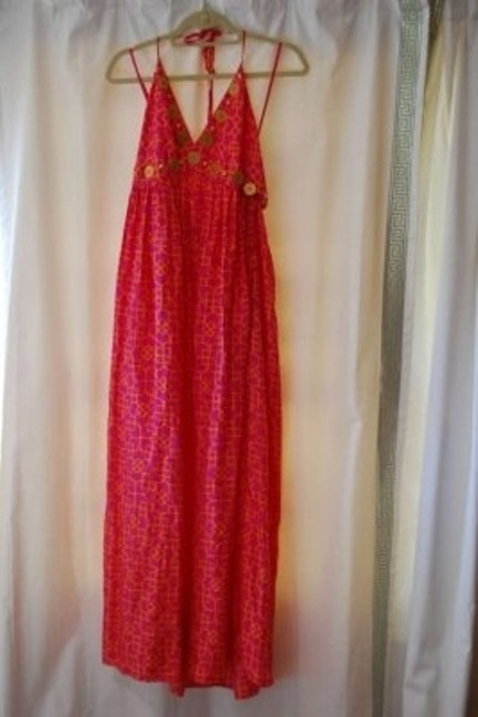 pink and orange Maxi Dress by MILLY