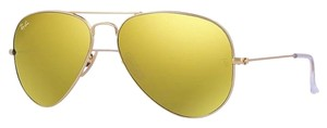 Ray-Ban Ray Ban RB3025 Aviator Sunglasses - Gold Frame/Yellow Lens