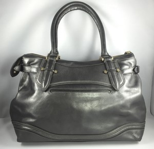 Cole Haan Tote in Metallic Pewter Leather