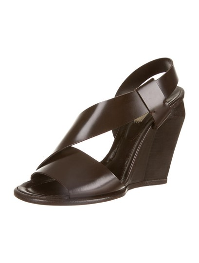 Marc Jacobs Leather Brown Wedges