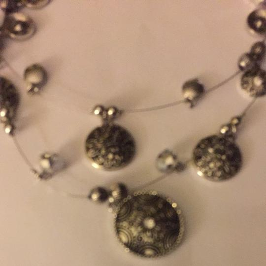 Other Silver Medallion Necklace