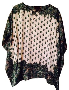 Dana Buchman Top Green print
