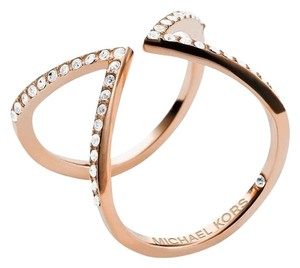 Michael Kors NWT Collection Open Arrow Ring ROSEGOLD -TONE MKJ37507918 SIZE 8
