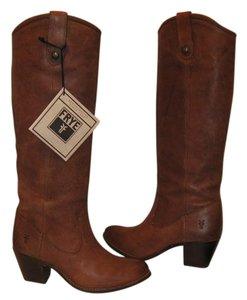 Frye Knee High Tall Cognac Boots