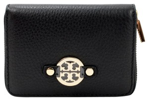 Tory Burch Amanda Leather Zip Coin Case Black