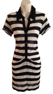 Theory short dress Black White Striped on Tradesy