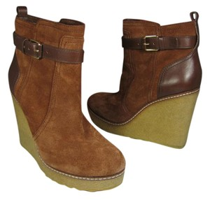 Tory Burch Suede Wedge Ankle brown Boots