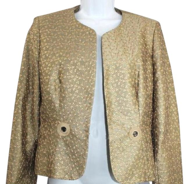 Item - Open Front Embroidered Jacket 10p Blazer Size Petite 10 (M)