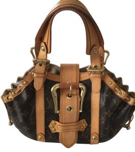 Louis Vuitton Limited Edition Theda Rare Satchel in Brown Monogram