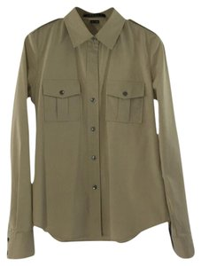 Theory Longsleeve Pockets Button Down Shirt BEIGE