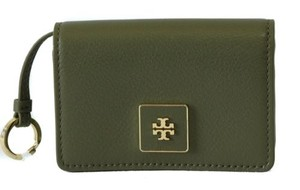 Tory Burch Tory Burch Clara Key Ring Card Case Green