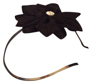 Not sure Black Flower And Rhinestone Headband