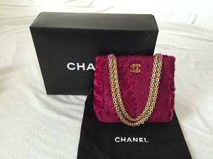 Chanel Card Fuchsia Pink Clutch