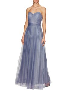 Adrianna Papell Blue / Gray Tulle Convertible Gown Dress