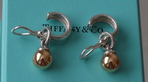 Tiffany & Co. Tiffany & Co. 18K Yellow Gold & 925 Ball Drop Dangle Earrings