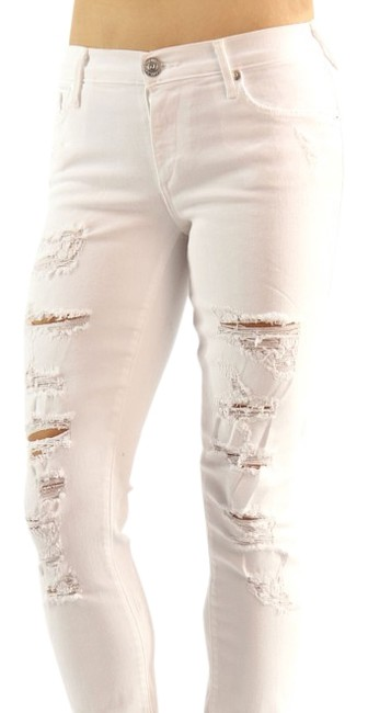 Item - White Acid Casey Low Rise Skinny Jeans Size 24 (0, XS)