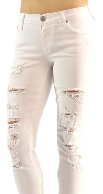 Item - White Acid Casey Low Rise Skinny Jeans Size 25 (2, XS)