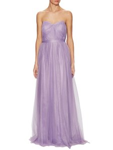 Adrianna Papell Purple Tulle Convertible Gown Dress