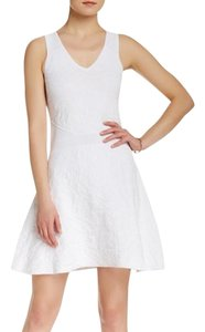 Parker short dress White Knit Sleeveless on Tradesy