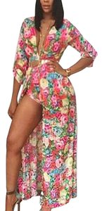floral rose Maxi Dress by Boutique 9 Dashiki Maxi Cardigan
