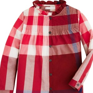 Burberry Button Down Shirt Red, Blue, Beige, Multi Color