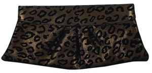Lauren Merkin Velour BLACK/ CHEETAH PRINT Clutch