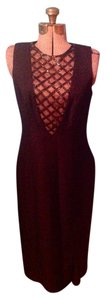 Alex Evenings Beads Long Lined Sleeveless Zipper Dress