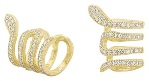 Other 14 Karat Gold Plated Snake Ear Cuffs with Signity CZs