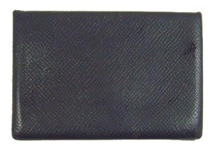 Herms black calvi leather business card holder case france wallet herms black calvi leather business card holder case wallet france colourmoves Gallery