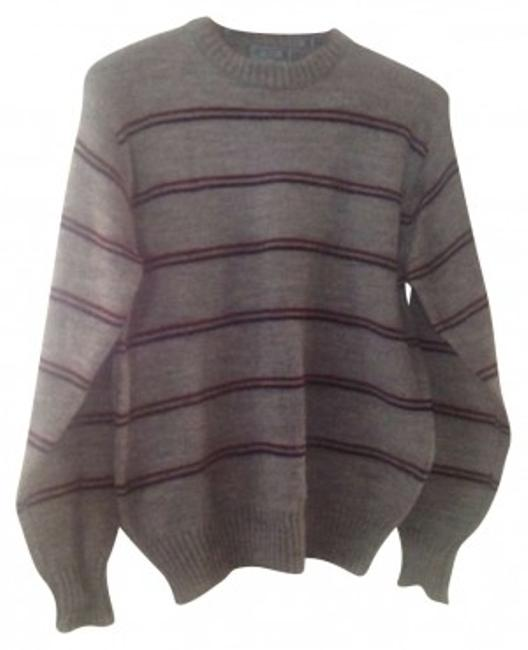 Preload https://item2.tradesy.com/images/le-tigre-grey-stripe-vintage-sweaterpullover-size-12-l-180811-0-0.jpg?width=400&height=650