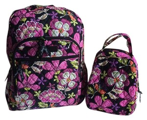 0adfb4ccc4d9 Vera Bradley Lunch Bunch Campus Pirouette Pink Cotton Backpack - Tradesy