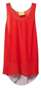 Anthropologie Silk Red Sleeveless Maeve Top