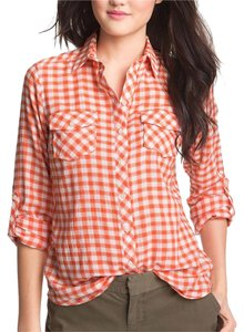 Sandra Ingrish Button Down Shirt Orange