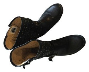 Frye Leather Bootie Boot Studded black Boots