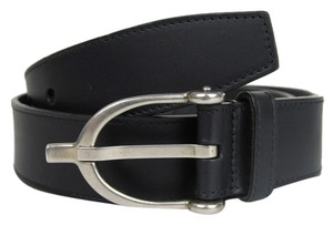 Gucci New Gucci Leather Belt Spur Buckle Web Detail 80/32 309257 8497