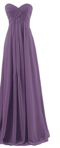 Purple Sweetheart Chiffon Bridesmaid Gown Dress