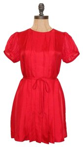 A|X Armani Exchange Pleated Belted Dress