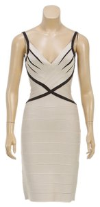 Herve Leger short dress Tan on Tradesy