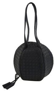 Bottega Veneta Party Satin Satchel in Black
