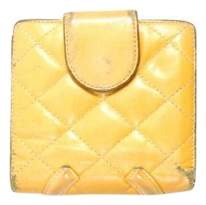 Chanel Beige Matelasse Cambon Quilted Leather Bifold Snap Wallet