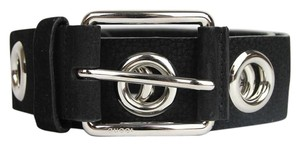 Gucci New Gucci Women's Black Leather Belt with Open Studs 90/36 370541 1000