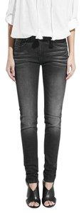Mango Red Metallic Skinny Skinny Jeans-Coated