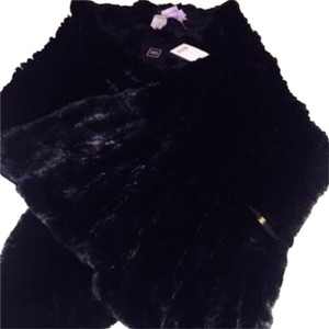 Herv Leger Fur Wrap Scarf Real Cape