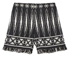 Tory Burch Shorts Black white