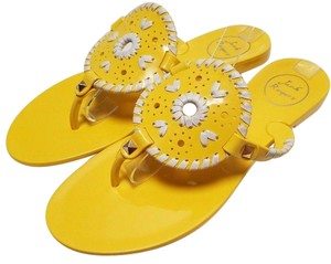 Jack Rogers High-gloss Finish Synthetic Jelly Flip Flop Yellow Sandals